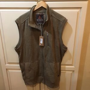 NWT Prana performance fleece vest jacket xxl